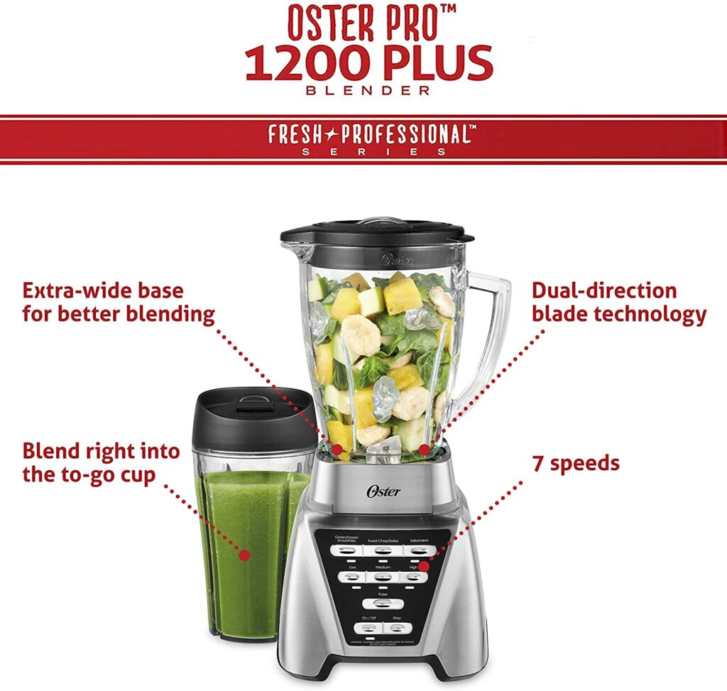 Features Of The Oster Pro 1200 Blender